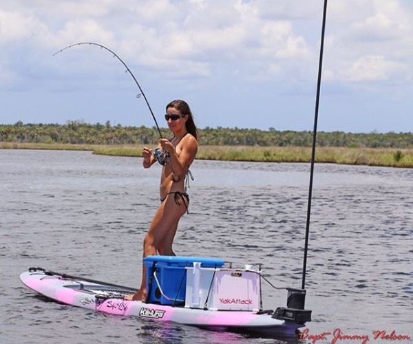 Luiza Barros SUP fishing bikini fishing hottie