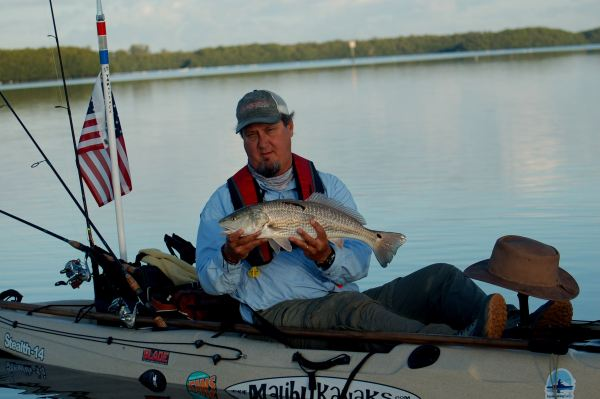 Bill Howard with a tagged redfish