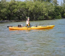 female kayak angler