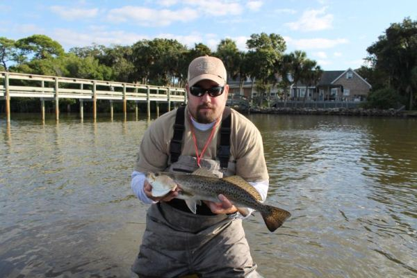 Redfish Chuck with a trout