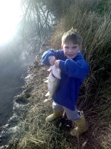 son with a bass