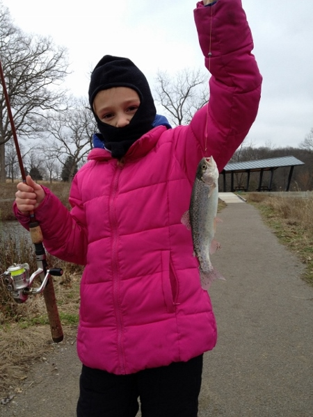 Taylor on her first Trout