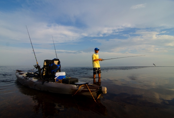 kayak fishing Fort Fisher North Carolina