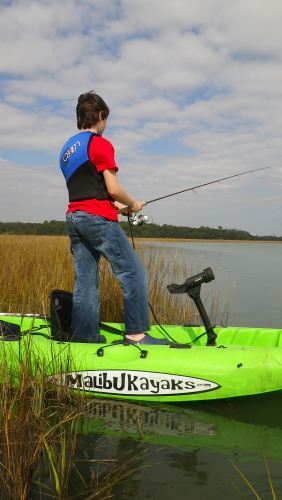 Ryley at the inaugural YakAngler & Kayak Fishing Radio Boondoggle