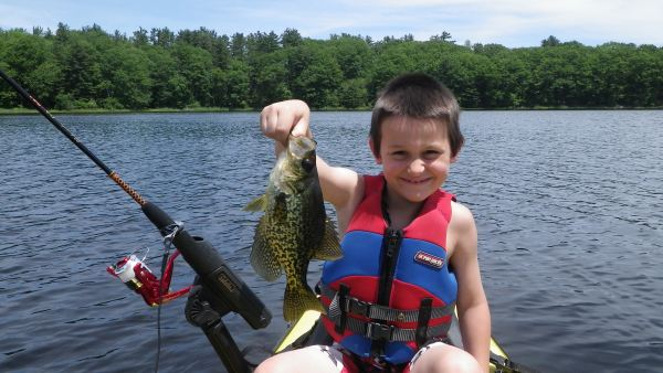 Braden with a nice crappie caught off my gator hatch