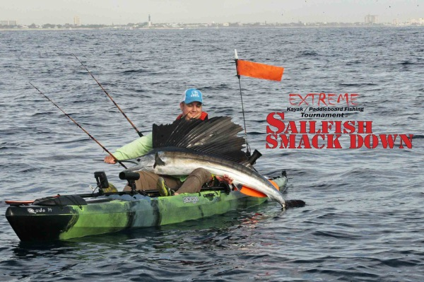 Chris Thomas Extreme Sailfish Smack Down kayak fishing tournament