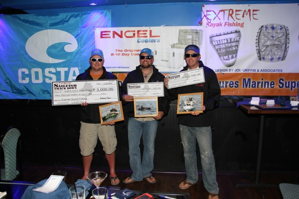 Extreme Sailfish Smack Down kayak fishing tournament winners
