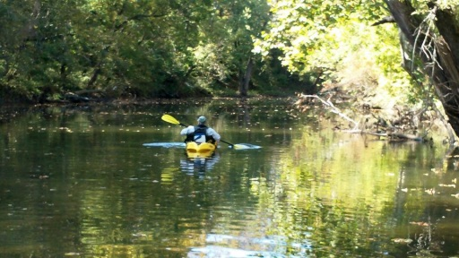 kayak fishing the creek