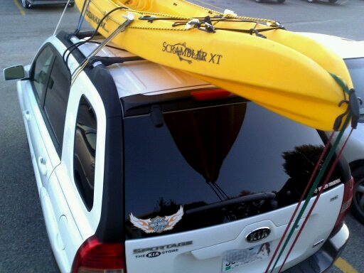 kayak fishing transport