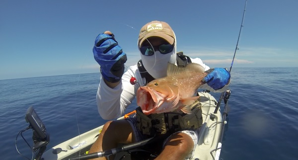 ed with a kayak caught red grouper