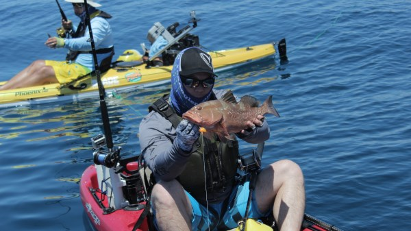 mark grouper kayak fishing