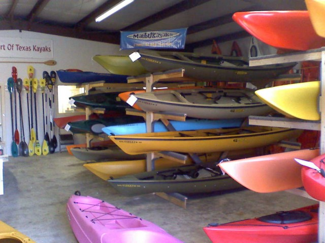 Heart Of Texas store with kayaks