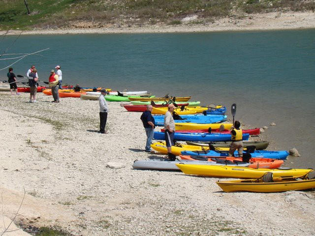 HOT Kayak demo at Belton Lake