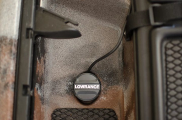 Lowrance Trandsucer Jackson Cuda Scupper view top