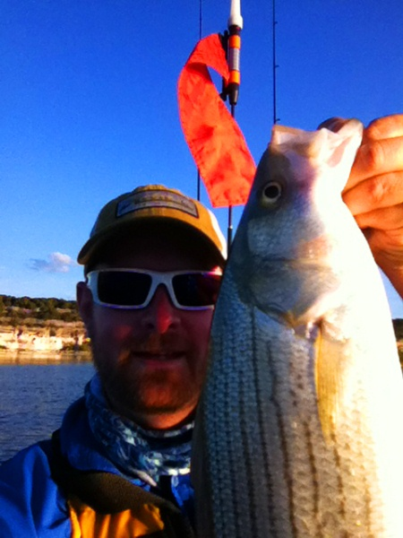 hybrid stripped bass selfie