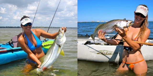 snook kayak fishing vs trout kayak fishing
