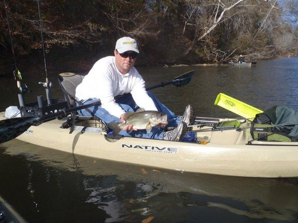 Matthew Frazier fishing in a Slayer 12