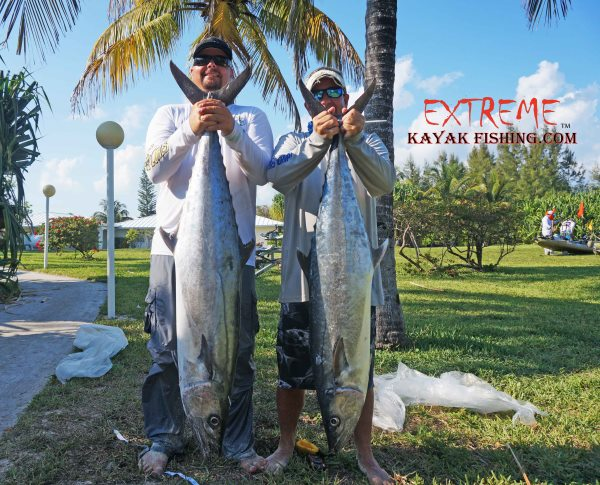 Brian Nelli and Andrew Mixon with their kingfish