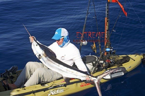 Joe Kraatz white marlin caught kayak fishing