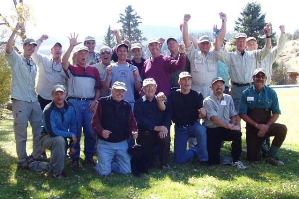 reel recovery fisherman group photo