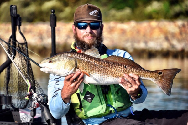 Brian Vincent with a nice Louisiana redfish