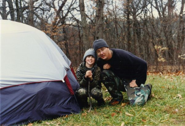 Andrew and Dad Campingout