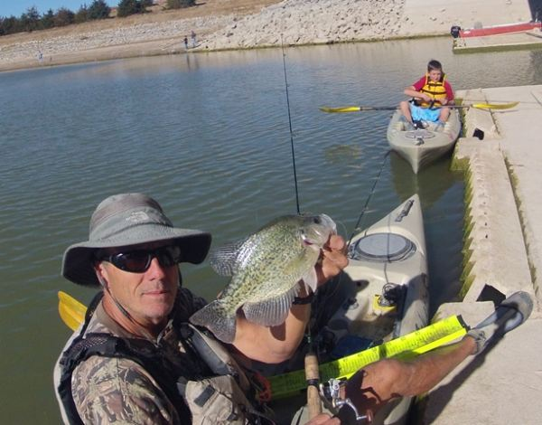 Nebraska kayak fishing crappie