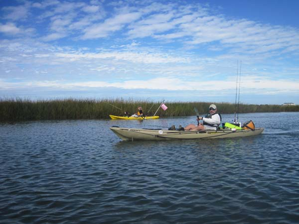 Kayak fishing Lynnhaven Bay with Mark Loizer