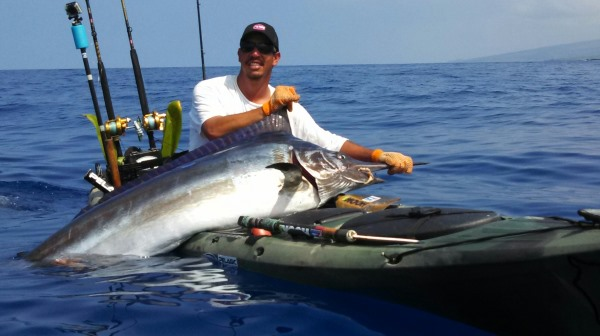 155 lb Black Marlin kayak fishing