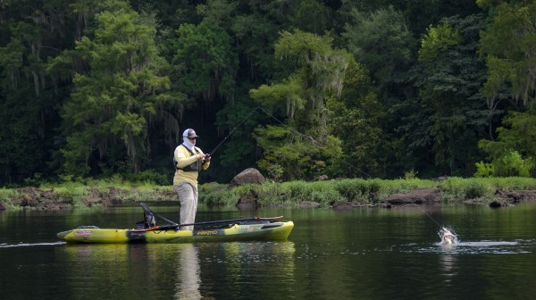 largemouth topwater kayak fishing