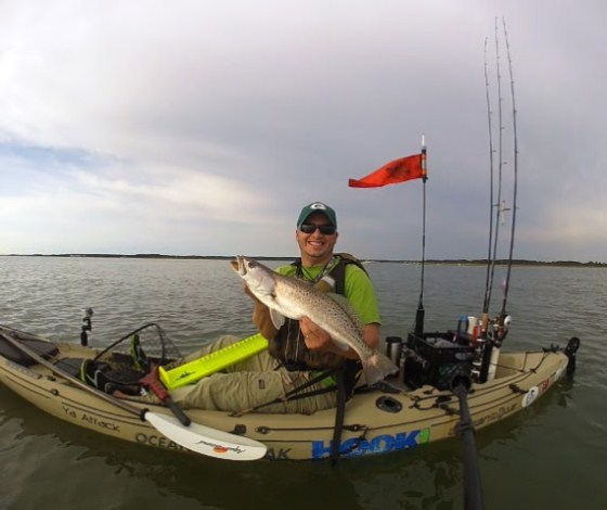 kayak fishing 23 inch trout