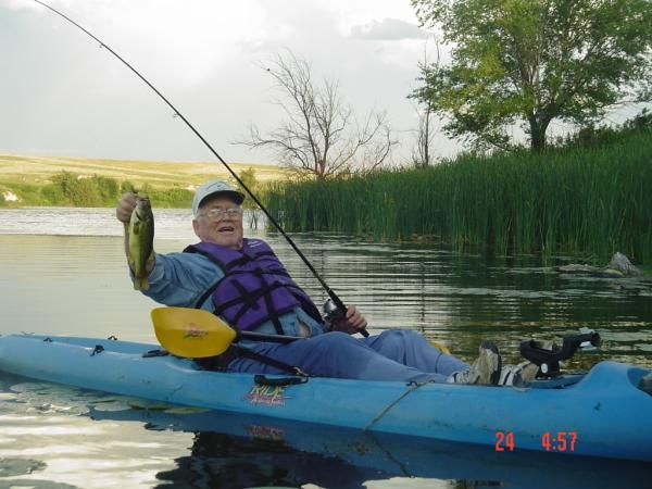 One of my first clients many years ago, Bob.  Keepin' it simple and catching fish.