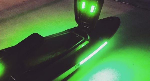 Led light installation for Kayak lights for night fishing
