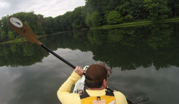 Kayak Fishing Clooper Lake, Maryland