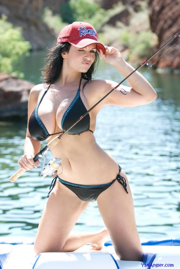 Hot Girl Fishing In A Ranger