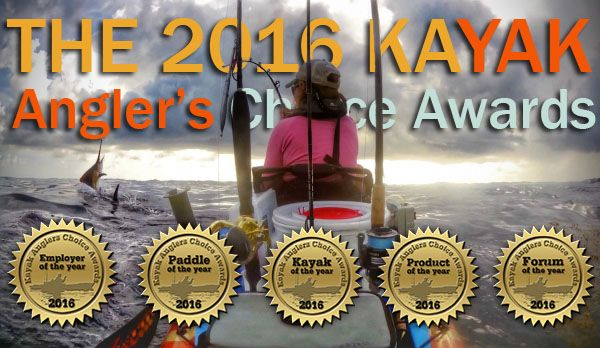 2016 Kayak Angler's Choice Awards Winners