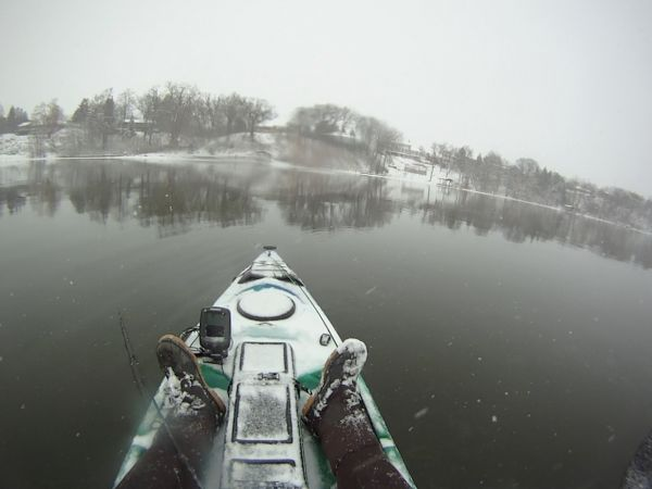 Dec. 20th kayak fishing in Wisconsin