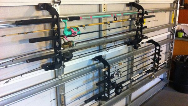 Using Your Garage Door For Rod Storage