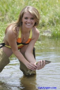 Samantha's first trout