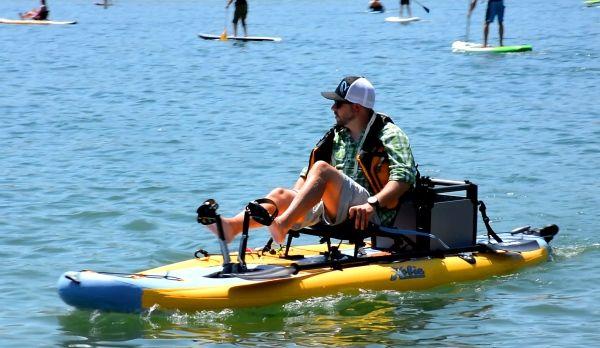 Hobie 39 s inflatable fishing kayak hybrid i11s for Inflatable fishing sup