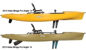 2014 vs 2015 Hobie Mirage Pro Angler - A comparison
