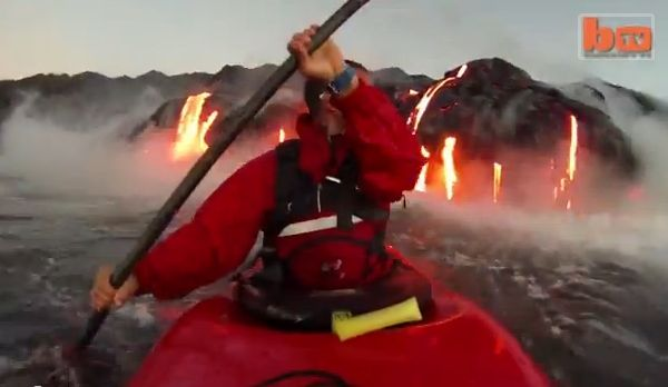 Kayaking In Lava!