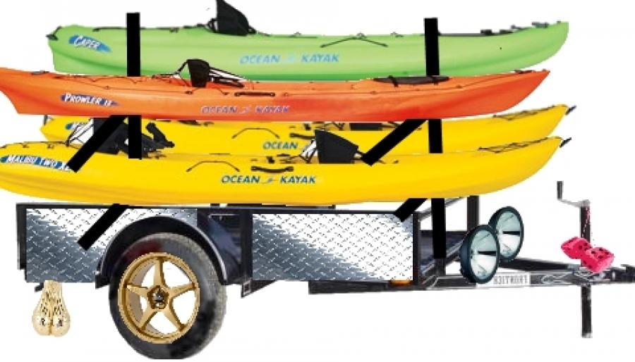 Super Bestest Kayak Trailer Ever