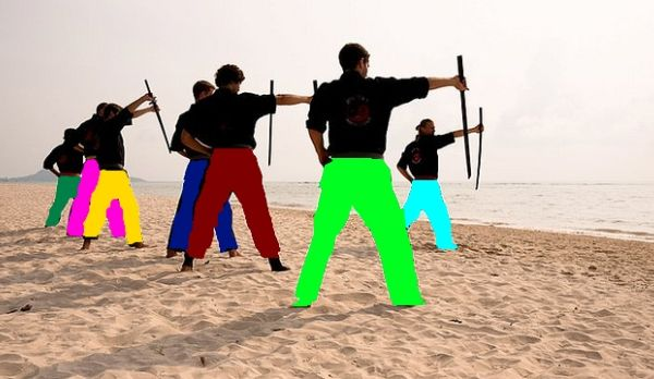 Multicolored Beach Ninjas