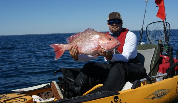 Brandon Barton with a nice Panhandle red snapper