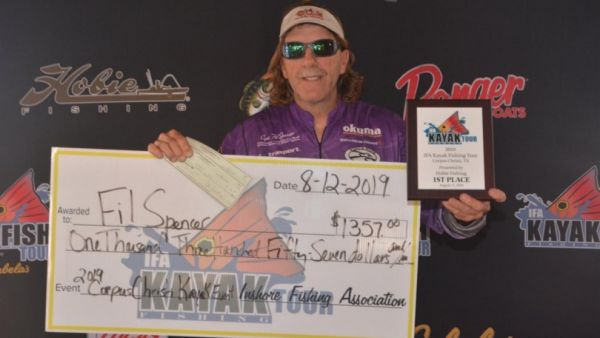 Spencer Wins IFA Kayak Fishing Tour Event at Corpus Christi, Texas