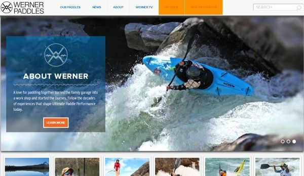 Werner Paddles launches latest website