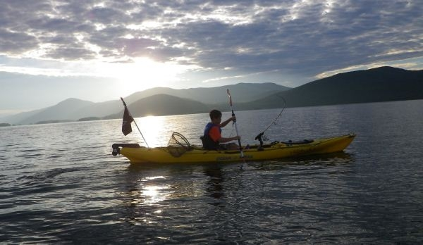 Kayak Fishing Lake George pt. 1