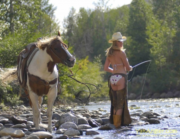 Fishing Cowgirl