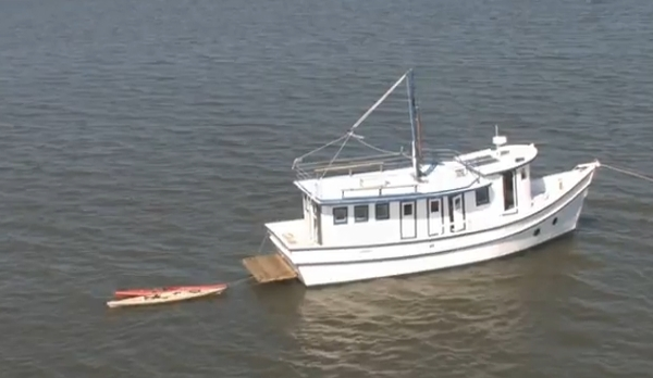 Georgia shrimp boat retrofitted for kayak tours